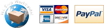 We Ship Worldwide and Accept Visa|MasterCard|American Express|Discover|PayPal