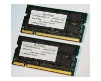 Picture of NEW 1GB (2 x 512MB) PC2700 DDR SODIMM Laptop Memory 350237-001